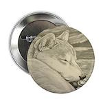 """Shiba Inu Dog 2.25"""" Button (100 pack)"""