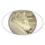 Shiba Inu Dog Sticker (Oval)
