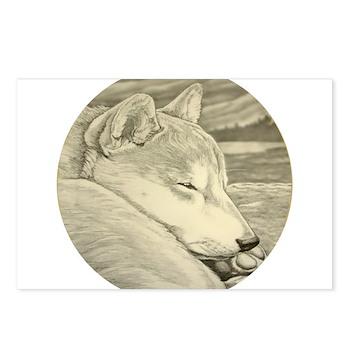 Shiba Inu Dog Postcards (Package of 8)