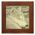 Shiba Inu Dog Framed Tile