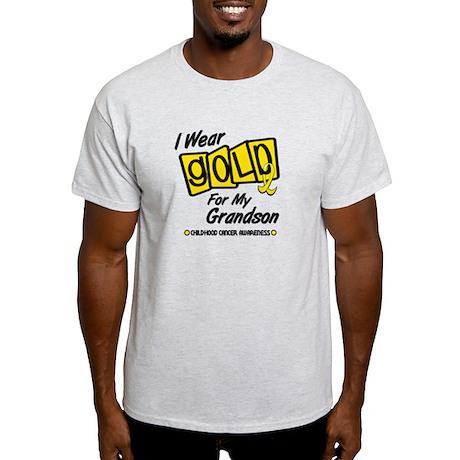 I Wear Gold For My Grandson 8 Light T-Shirt