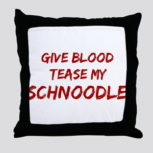 Tease aSchnoodle Throw Pillow