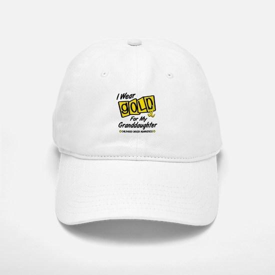 I Wear Gold For My Granddaughter 8 Baseball Baseball Cap