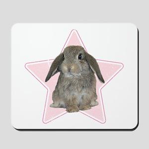 Baby bunny (pink) Mousepad