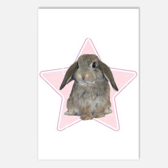 Baby bunny (pink) Postcards (Package of 8)
