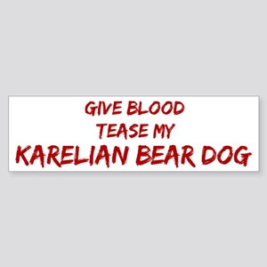 Tease aKarelian Bear Dog Bumper Sticker