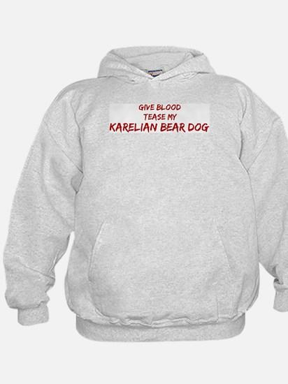 Tease aKarelian Bear Dog Hoodie