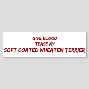 Tease aSoft Coated Wheaten Te Bumper Sticker