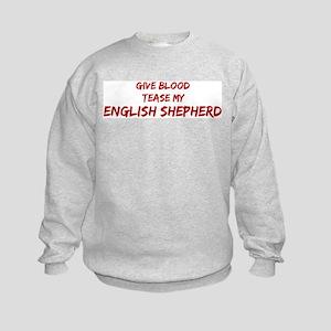 Tease aEnglish Shepherd Kids Sweatshirt