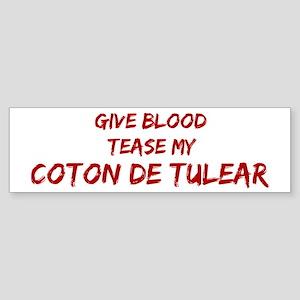 Tease aCoton de Tulear Bumper Sticker