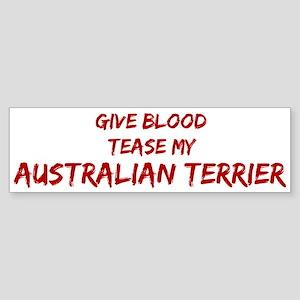 Tease aAustralian Terrier Bumper Sticker