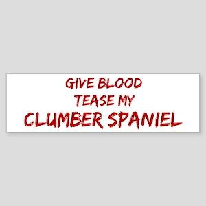 Tease aClumber Spaniel Bumper Sticker