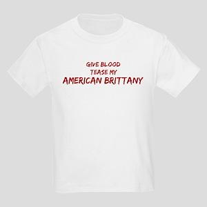 Tease aAmerican Brittany Kids Light T-Shirt