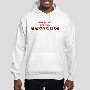 Tease aAlaskan Klee Kai Hooded Sweatshirt