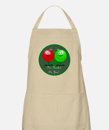 Hooked On You Christmas BBQ Apron