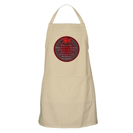 Irish Christmas Blessing BBQ Apron