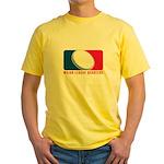 Major League Quarters Yellow T-Shirt