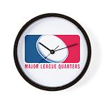 Major League Quarters Wall Clock