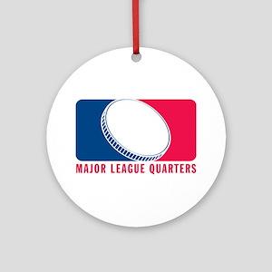 Major League Quarters Ornament (Round)