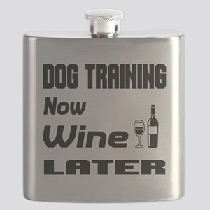 Dog Training Now Wine Later Flask