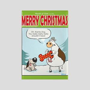 Dog Present Rectangle Magnet