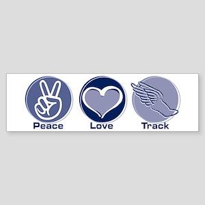 Peace Love Track Bumper Sticker