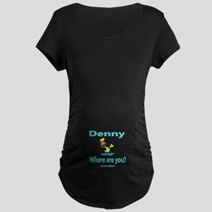 WHERE'S DENNY Maternity Dark T-Shirt
