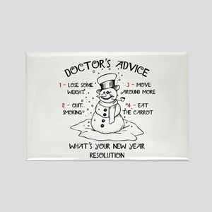 Doctor's Advice Rectangle Magnet