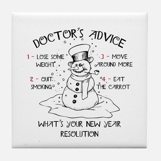 Doctor's Advice Tile Coaster