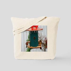 Winter Birdfeeder Tote Bag