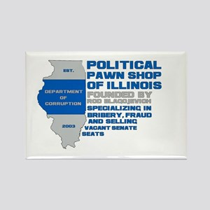 Illinois Political Pawn Shop Rectangle Magnet