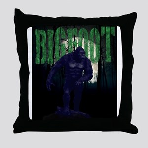 BIGFOOT- out of the darkness Throw Pillow
