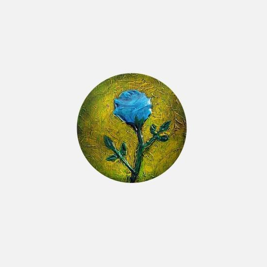Blue Rose Mini Button