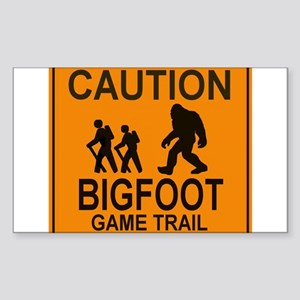 Caution! Bigfoot Sticker