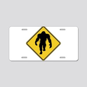Warning! Bigfoot Aluminum License Plate