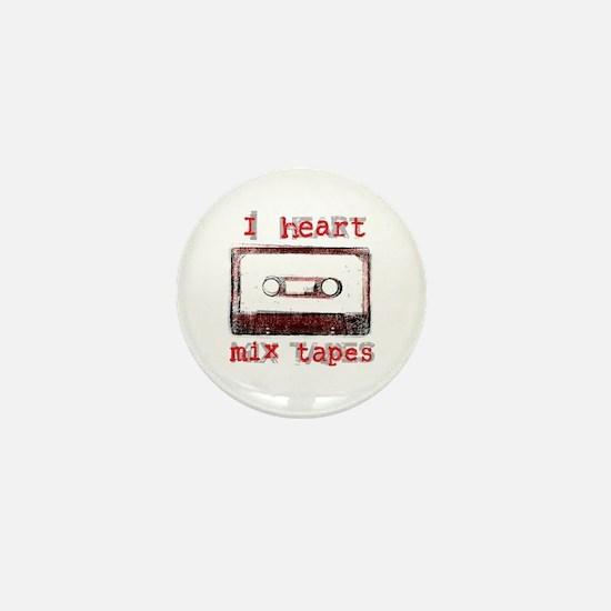 I Heart Mix Tapes Mini Button