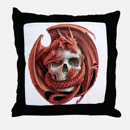 Dragon and Friend Throw Pillow