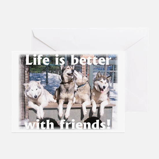 Cool Sled Greeting Cards (Pk of 10)