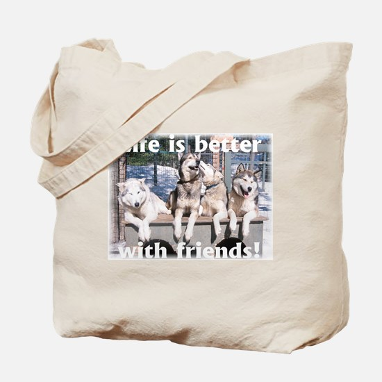 Cute Sled dog Tote Bag