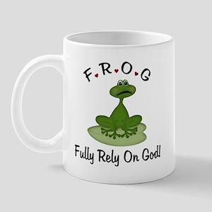 FROG Fully Rely on God Mug