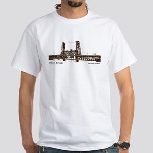 Steel Bridge White T-Shirt