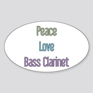 Bass Clarinet Gift Oval Sticker