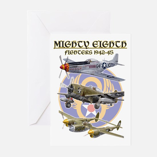 8th Air Force Fighters Greeting Cards (Pk of 10)