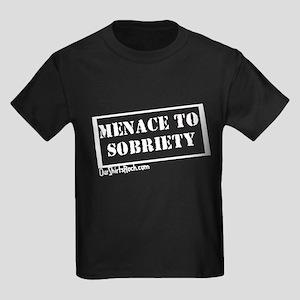 Menace to Sobriety Kids Dark T-Shirt