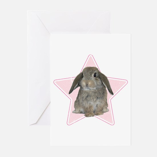 Baby bunny (pink) Greeting Cards (Pk of 10)
