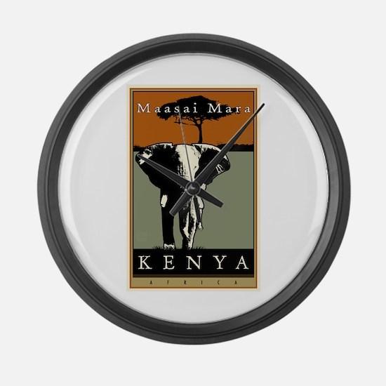Kenya Large Wall Clock