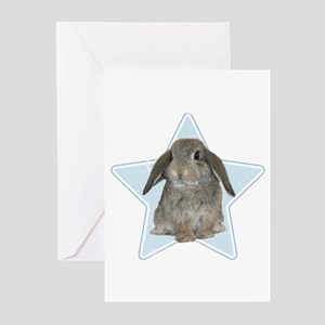 Baby bunny (blue) Greeting Cards (Pk of 10)