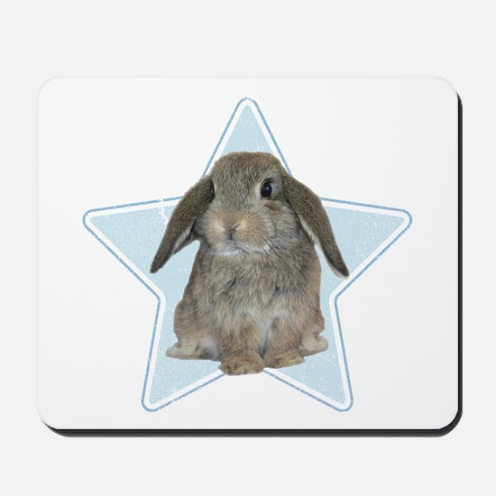 Baby bunny (blue) Mousepad