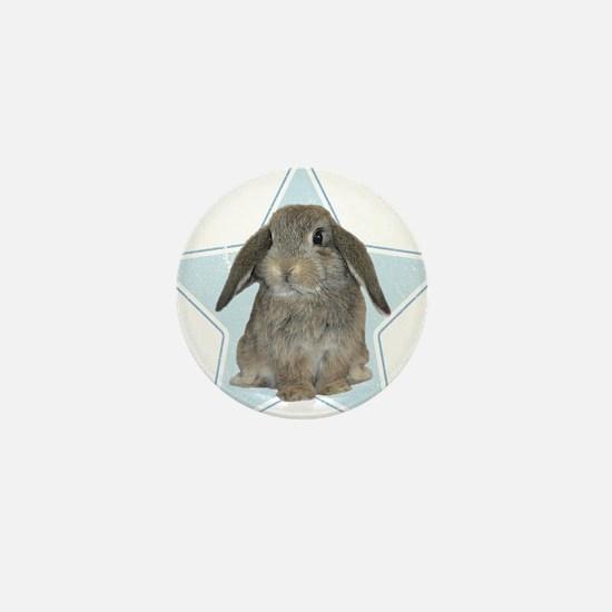 Baby bunny (blue) Mini Button