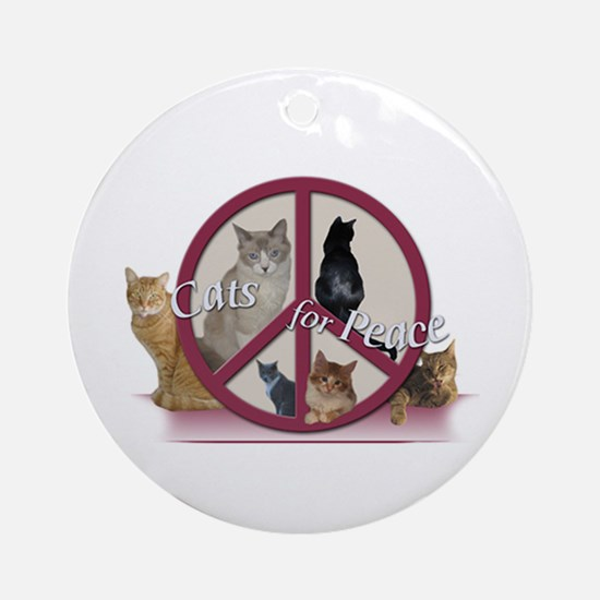 Cats for Peace Ornament (Round)